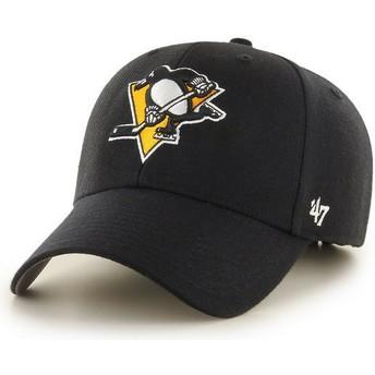 Boné curvo preto da Pittsburgh Penguins NHL MVP da 47 Brand