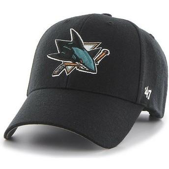 Boné curvo preto da San Jose Sharks NHL MVP da 47 Brand