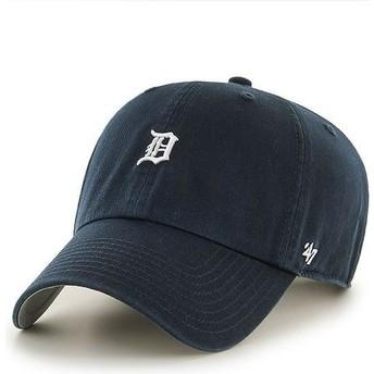Boné curvo azul marinho com mini logo da Detroit Tigers MLB Clean Up da 47 Brand