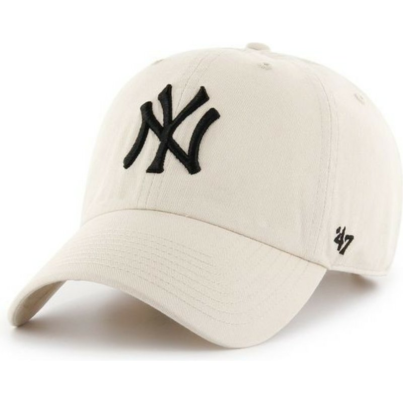 bone-curvo-creme-da-new-york-yankees-mlb-clean-up-da-47-brand