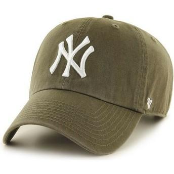 f5cf28e349111 Boné curvo castanho snapback da New York Yankees MLB MVP da 47 Brand ...
