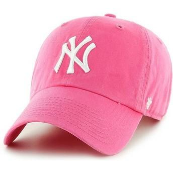 Boné curvo rosa da New York Yankees MLB Clean Up da 47 Brand