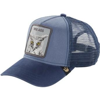 Boné trucker azul coruja Smarty Pants da Goorin Bros.