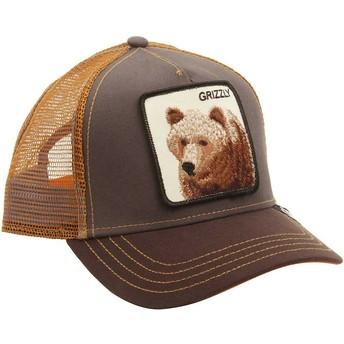 Boné trucker castanho urso Grizz da Goorin Bros.