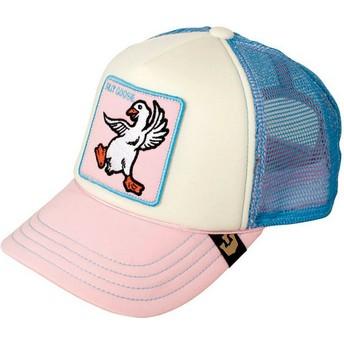 Boné trucker rosa e azul para criança ganso Silly Goose da Goorin Bros.