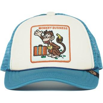 Boné trucker azul para criança macaco Monkey Business da Goorin Bros.