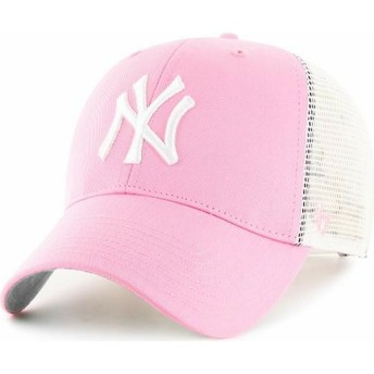 Boné trucker rosa da New York Yankees MLB da 47 Brand