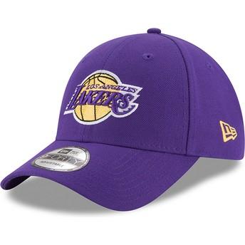 Boné curvo violeta ajustável 9FORTY The League da Los Angeles Lakers NBA da New Era