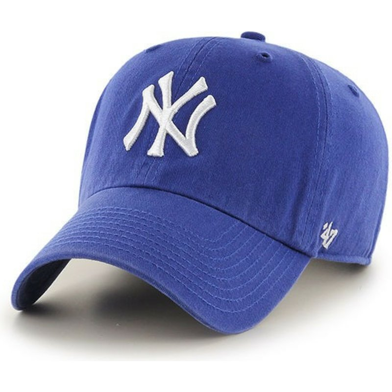 bone-curvo-azul-para-crianca-da-new-york-yankees-mlb-clean-up-youth-da-47-brand