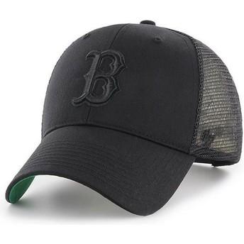 Boné trucker preto com logo preto da Boston Red Sox MLB MVP Branson da 47 Brand