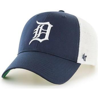 Boné trucker azul marinho da Detroit Tigers MLB MVP Branson da 47 Brand