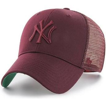 Boné trucker grená com logo grená da New York Yankees MLB MVP Branson da 47 Brand