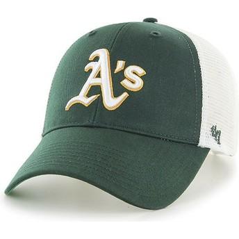 Boné trucker verde da Oakland Athletics MLB MVP Branson da 47 Brand