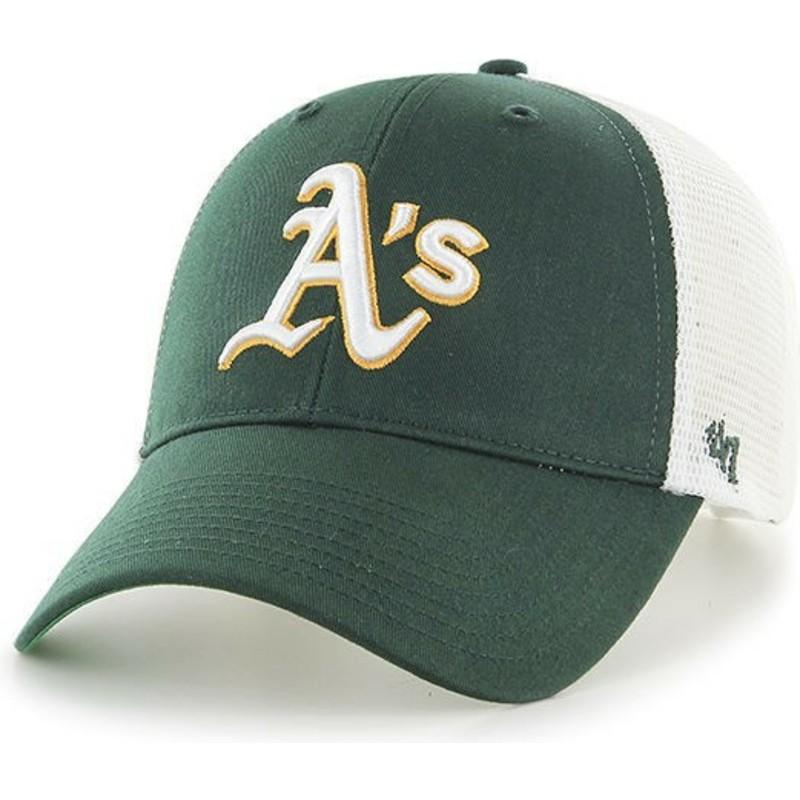 Boné trucker verde da Oakland Athletics MLB MVP Branson da 47 Brand ... 7260dddc2e4