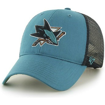 Boné trucker verde da San Jose Sharks NHL MVP Branson da 47 Brand