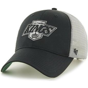 Boné trucker preto e branco da Los Angeles Kings NHL MVP Branson da 47 Brand