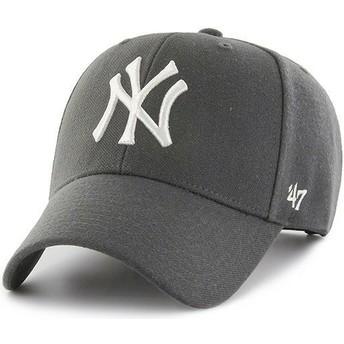 Boné curvo cinza escuro snapback da New York Yankees MLB MVP da 47 Brand