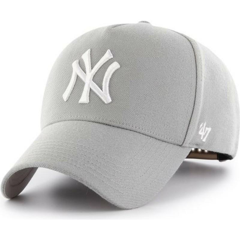 86a8bc89be3fd ... MLB MVP da 47 Brand. bone-curvo-cinza-snapback-da-new-york-yankees-