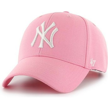 Boné curvo rosa snapback da New York Yankees MLB MVP da 47 Brand