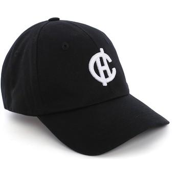 Boné curvo preto Aspen com logo CH da Caphunters