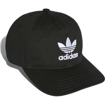 Boné curvo preto ajustável Trefoil Classic da Adidas