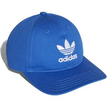 Boné curvo azul ajustável Trefoil Classic da Adidas