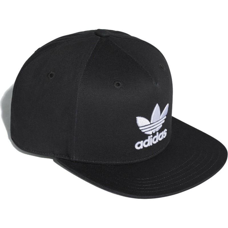 448f807454 Boné plano preto snapback Trefoil da Adidas: comprar online en ...
