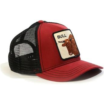Boné trucker vermelho touro Bull da Goorin Bros.