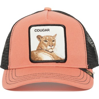 Boné trucker rosa suçuarana Cougar Town da Goorin Bros.