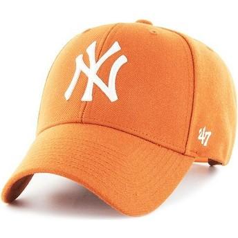 Boné curvo laranja snapback da New York Yankees MLB MVP da 47 Brand