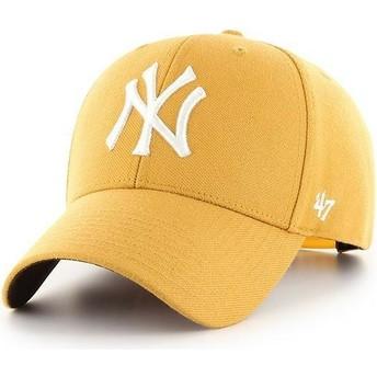 Boné curvo amarelo snapback da New York Yankees MLB MVP da 47 Brand