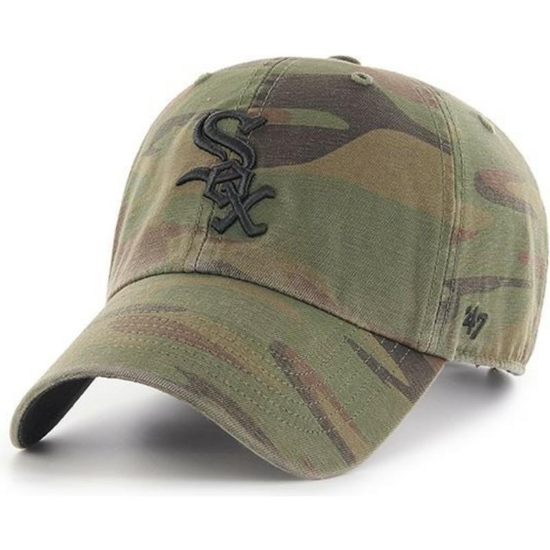 f783d4998 Boné curvo camuflagem com logo preto da Chicago White Sox MLB Clean ...