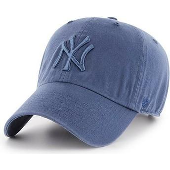 47 Brand Boné curvo azul com logo azul da New York Yankees MLB Clean Up da  47 Brand 4001b3b0f4a