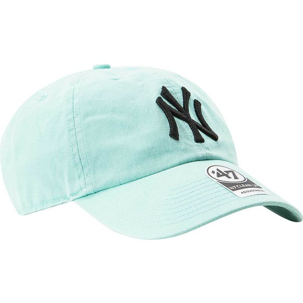 bone-curvo-azul-tiffany-da-new-york-yankees-mlb-clean-up-da-47-brand