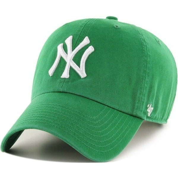 bone-curvo-verde-da-new-york-yankees-mlb-clean-up-da-47-brand