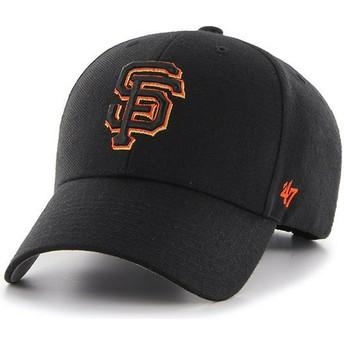 Boné curvo preto com logo laranja da San Francisco Giants MLB MVP da 47 Brand