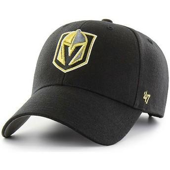 Boné curvo preto da Vegas Golden Knights NHL MVP da 47 Brand