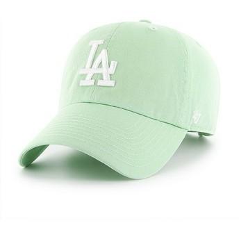 Boné curvo verde claro da Los Angeles Dodgers MLB Clean Up da 47 Brand
