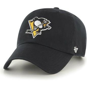 Boné curvo preto da Pittsburgh Penguins NHL Clean Up da 47 Brand
