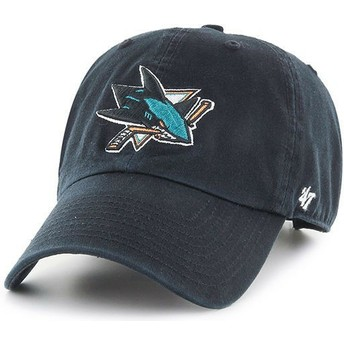 Boné curvo preto da San Jose Sharks NHL Clean Up da 47 Brand