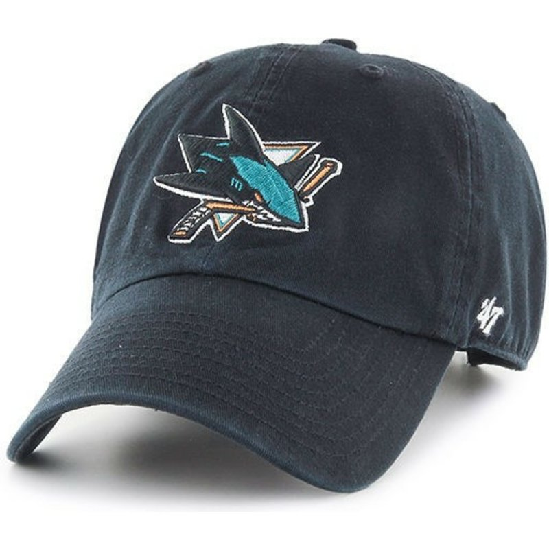 bone-curvo-preto-da-san-jose-sharks-nhl-clean-up-da-47-brand