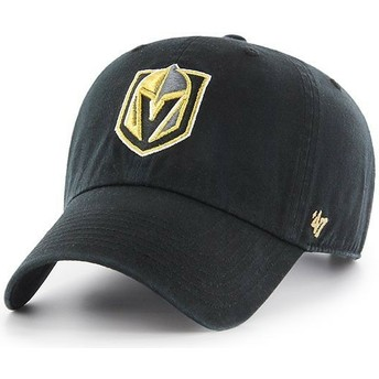 Boné curvo preto da Vegas Golden Knights NHL Clean Up da 47 Brand