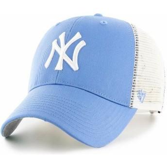 Boné trucker azul claro da New York Yankees MLB MVP Branson da 47 Brand