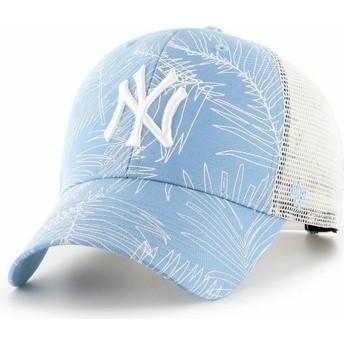 Boné trucker azul claro da New York Yankees MLB MVP Palma da 47 Brand