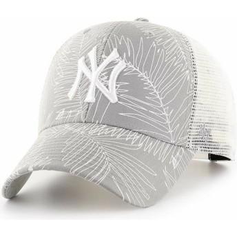 Boné trucker cinza da New York Yankees MLB MVP Palma da 47 Brand