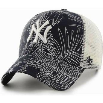 Boné trucker azul marinho da New York Yankees MLB MVP Palma da 47 Brand