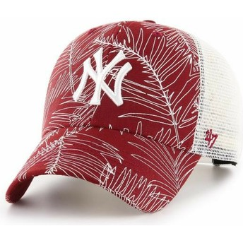Boné trucker vermelho da New York Yankees MLB MVP Palma da 47 Brand