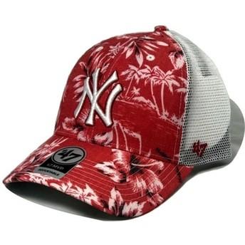 Boné trucker vermelho da New York Yankees MLB MVP South Coast da 47 Brand