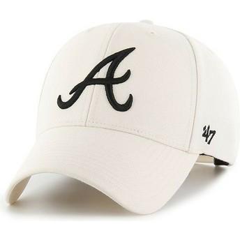 Boné curvo creme snapback da Atlanta Braves MLB MVP da 47 Brand
