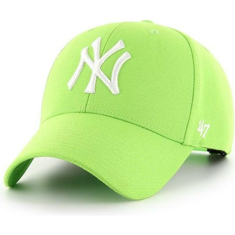 dde91d78a089a Boné curvo verde limão snapback da New York Yankees MLB MVP da 47 ...